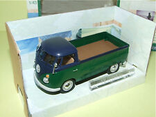 VW COMBI PICK UP Vert & Bleu CARARAMA