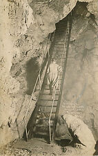 """""""Stairway to Paradise Lost, Oregon Caves,"""" Or Real Photo Postcard Rppc,Patterson"""