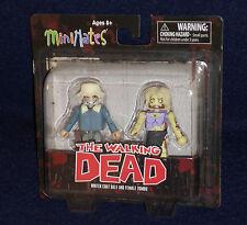 The Walking Dead MiniMates WINTER COAT DALE & FEMALE ZOMBIE Figure 2 PK