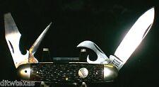 Schrade Walden Camper's knife USA Cir-1950's Round Shield No Bail & Leather Awl