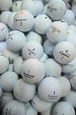 60 Assorted AA-Standard Grade Golf Balls plus 10 plastic wedge tees