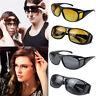 HD Optic Night Vision Anti Glare Glasses UV Wind Protection Driving Eyeglasses