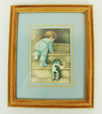 Bessie Pease Gutmann Nitey Nite Framed Signed Print Matted with Glass