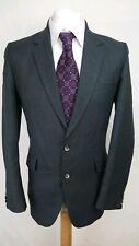Centaur Mens Suit Jacket, Size 40R, Dark Green Check Design, Pure Wool, VGC