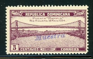 DOMINICAN REPUBLIC MNG Specimen MUESTRA: Scott #297 5c RAMFIS Bridge $$$