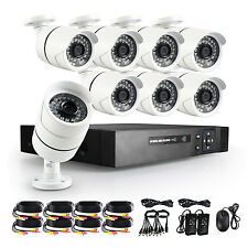 8CH 1080P HDMI DVR HVR NVR Outdoor AHD CCTV Video IR Security Camera System