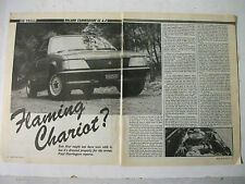 HOLDEN VH COMMODORE SS 4.2 V8 COMPLETE 5 PAGE MAGAZINE ROAD TEST