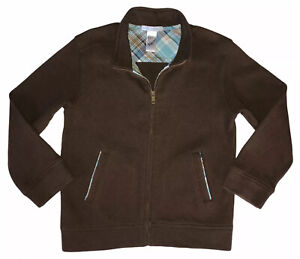 Janie and Jack Sweater Boys 5/6 Full Zip Brown
