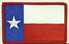 TEXAS STATE FLAG PATCH EMBROIDERED IRON-ON LONE STAR TX Red Border #02