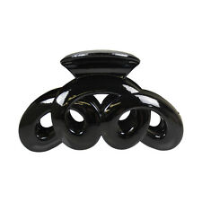Black Jaw Clip Jumbo Swirl Design Claw Hair Clip Cute Girls Big Hair Accessory