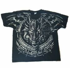 Mens Universal Orlando Dueling Dragons T-Shirt 2X Black Short Sleeve Graphic Tee