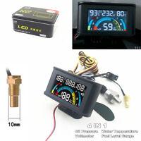 4 In 1 LCD Car Digital Voltmeter + Oil Pressure + Water Temp + Oil Fuel Gauge