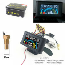 4 In 1 LCD Car Digital Voltmeter + Oil Pressure + Water Temp + Oil Fuel Gauge