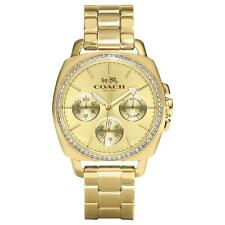 Coach Watch 14502080 Boyfriend Gold Bracelet Analog Ladies Swarovski Watch