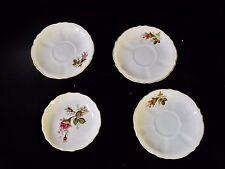 4 Moss Rose pandora saucers plates Fine China JAPAN Gold Trim