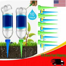 10x Garden Plant Flower Auto Drip Irrigation bottle Self Watering Dripper Device