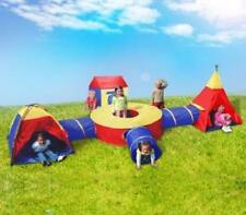 Kids Childrens Activity Fun Pop Up Indoor / Outdoor Teepee Dome Tunnel Play Tent