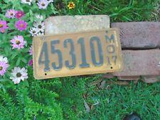 Missouri vintage 1917 License Plate # 45310, MO