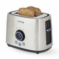 H.KOENIG Toaster 2 Scheiben 9 Bräunungsstufen Lichtindikator 1000 W Edelstahl