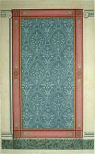 Peinture Murale ancienne Frise Décoration lithographie XIXème