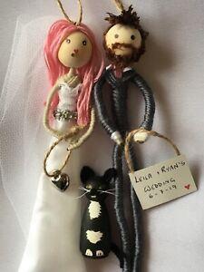 Bride Groom Cat Wedding Gift Present Fully Customised Personalised