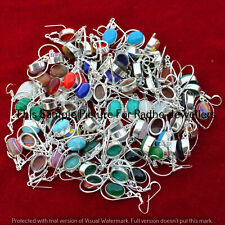 Turquoise & Mixed 5 Pair Wholesale Lots 925 Sterling Silver Plated Earrings Ff-2