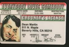 Dean Martin Drivers License ID Music Singer Actor Rat Pack Thats Amore Lewis