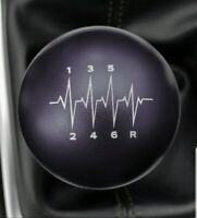 SSCO BLACK FOR WRX STI HEARTBEAT SR 190 GRAMS WEIGHTED SHIFT KNOB 12x1.25mm