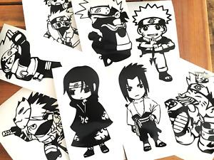 Naruto Anime Manga Characters Kakashi Obito Sasuke Itachi Vinyl Decal Stickers