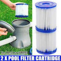 2X For Bestway58093 Replacement Filter Cartridge Swimming Pool Pump Easy S