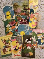 Lot of 10 Vintage Easter Greeting Cards Unused