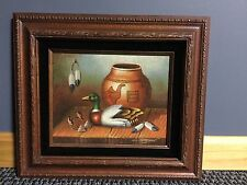 "Western Sand Art Painting - Beautifully Framed - Signed by Harrison 16"" X 14"""