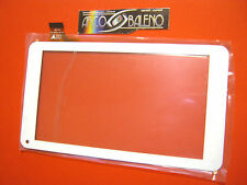 TOUCH SCREEN + VETRO PER MEDIACOM 720GO SMARTPAD M-MP720GO BIANCO DISPLAY LCD