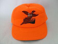Vintage 80's Bright Orange Embroidered Bird Trucker Snapback Winchester Hat