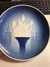 "B & G COPENHAGEN PORCELAIN PLATE: MUNICH 1972 OLYMPIC GAMES, 7"", DENMARK"
