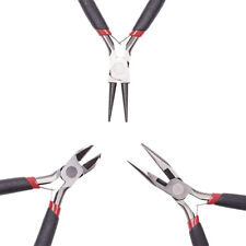 3pcs/Set Polishing Jewelry Plier Kits Side Cutting Wire Cutter Round Nose Tools