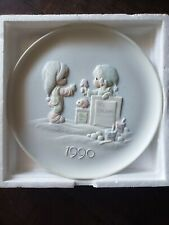 "Precious Moments Plate ""Wishing You A Yummy Christmas"" 1990 Frist Edition(Dated)"
