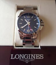 Longines Conquest Stainless Steel Automatic GMT Wristwatch L3.687.4.99.6