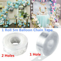 1 Roll 5m Balloon Chain Tape Arch Connect Strip for Wedding Birthday Party New20