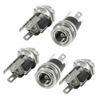 5 Pieces DC025 3 Terminals PCB Mount 2.1x5.5mm Jacks Connectors Socket