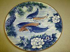 Sun Ceramics Koi Plate, Japan, Large
