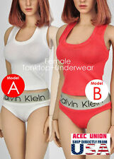 1/6 Women Tank Top & Underwear For Hot Toys Phicen Kumik Female Body USA SELLER