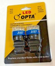 2PC 3157 3057 3156 19 SMD's RED LED WEDGE BASE BULBS TAIL BRAKE STOP LIGHT#6855
