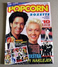 Popcorn magazine 1992 Roxette Michael Jackson Nirvana Guns N' Roses The Cure