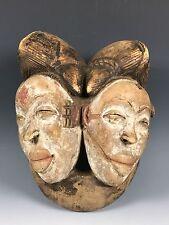 AFRICAN ART DOUBLE FACE PUNU MASK