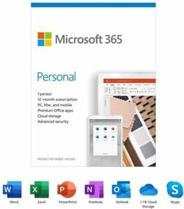 Microsoft 365 Personal 1 PC or Mac License 12-Month Subscription Product Key