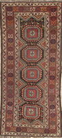 Pre-1900 Antique TRIBAL Abadeh Oriental Hand-Knotted Runner Rug 4x8ft