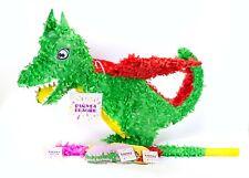 Drachen Pinata Set, Pinjatta + Stab + Augenmaske, Kinder Geburtstag Spiel