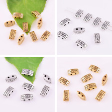 Wholesale Tibetan Silver Double Hole Loose Beads Metal Brass Jewelry Findings
