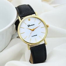 Dress Watch Women Ladies QuartzSimple Casual Faux Leather Wrist Watch New